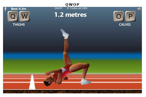 Strange Moments in Gaming: QWOP - The Flash Running ...
