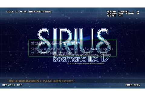 beatmania IIDX 17 SIRIUS - Booting~Opening~Ending - YouTube