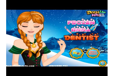 Frozen Anna Dentist Online video Game - baby girl games ...
