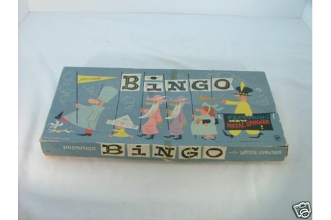 Pressman Bingo 1166 Wooden Pegs Metal Spinner Game 1166 | eBay