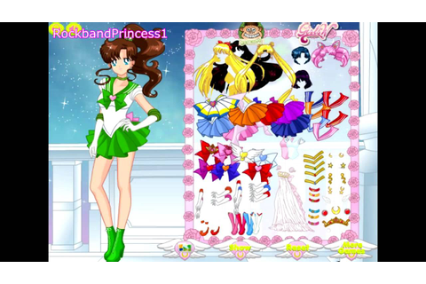 Sailor Moon Games - Sailor Moon Girls Dress Up Game - YouTube