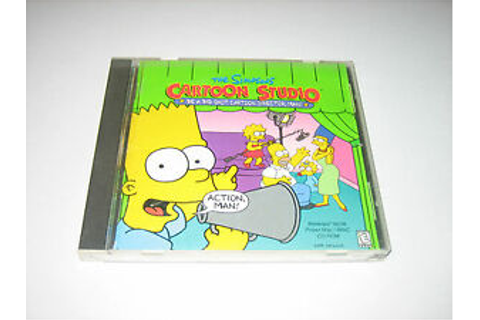 THE SIMPSONS CARTOON STUDIO CD-ROM Game | eBay