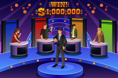 People on Game Show stock vector. Illustration of quiz ...