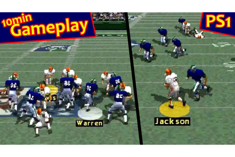 NFL Gameday ... (PS1) - YouTube