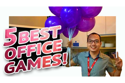 5 FUN PARTY GAMES AT WORK • Part 2 🎲 | Minute To Win It ...