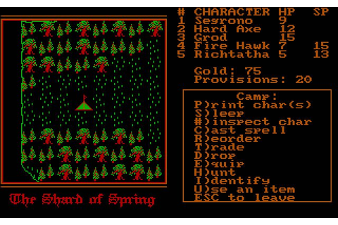 Download Shard of Spring rpg for DOS (1987) - Abandonware DOS
