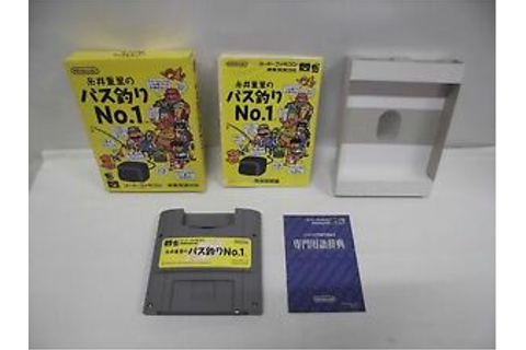 SNES -- ITOI SHIGESATO BASS TSURI No.1 -- Boxed. Can data ...
