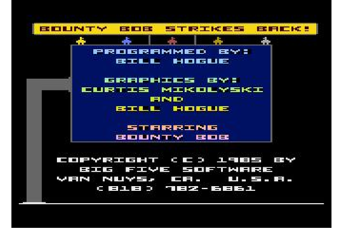 Bounty Bob Strikes Back Download (1985 Arcade action Game)