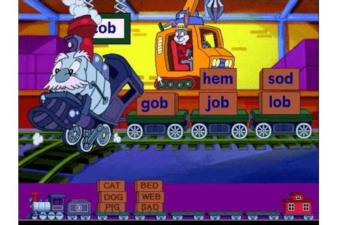 Reader Rabbit's Reading 1: Word Train Game - YouTube