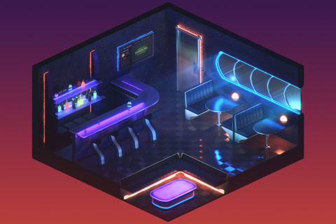 ArtStation - The Space Bar, Alex Harris | Design in 2019 ...
