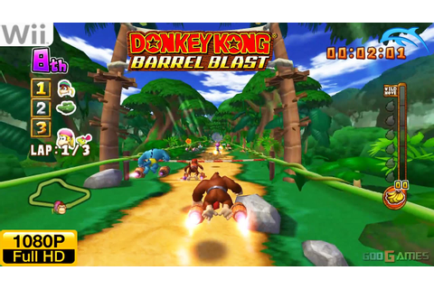 Donkey Kong Barrel Blast - Wii Gameplay 1080p (Dolphin GC ...