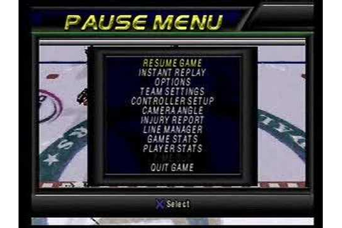 NHL Face Off 99 Playstation - Gameplay footage Part 1 of 2 ...