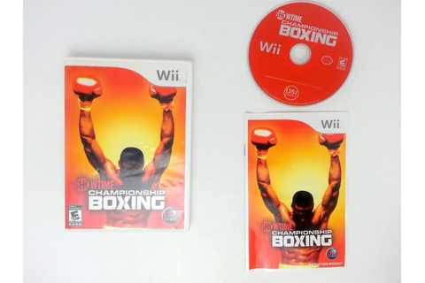 Showtime Championship Boxing game for Nintendo Wii ...