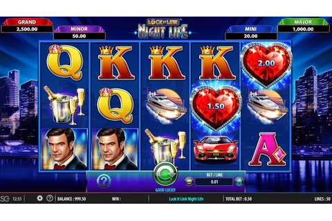 Night Life slot from WMS (Lock It Link) play online