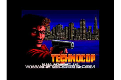 Technocop (Sega Genesis / Mega Drive) Intro - YouTube