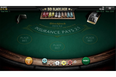 3D Blackjack Casino Game | Games | Up To 200% Welcome Bonus