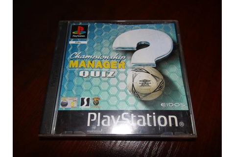 Games - Playstation 1 - Championship Manager Quiz for sale ...
