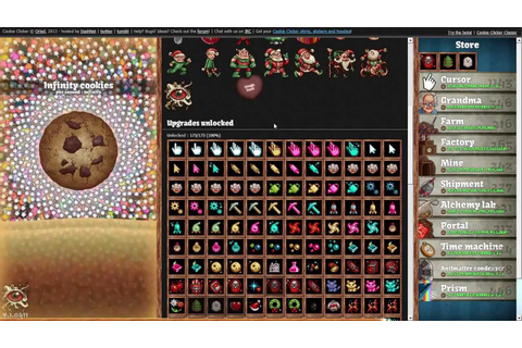 WORLD RECORD Cookie Clicker (Infinity) [Game Beat] - YouTube
