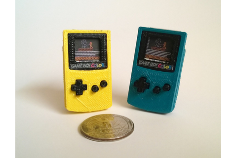 Mini Nintendo Game Boy Color 3D Printed