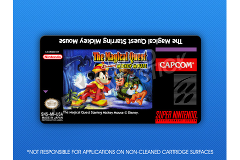 SNES - Magical Quest Starring Mickey Mouse Label | Retro ...