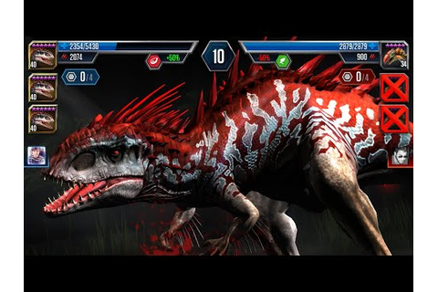 Jurassic World : The Game - INDOMINUS-REX Lv.40 X3 (Best ...
