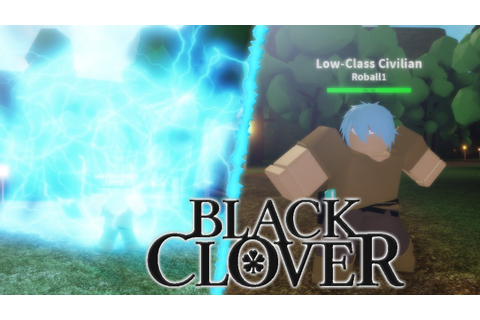 Playing a New Black Clover game on Roblox! | Grimoire ...