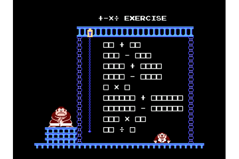 Donkey Kong Jr. Math Download Game | GameFabrique