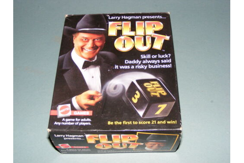 Larry Hagman Presents Flip Out Game 1985 Mattel Game ...