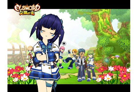 KamiNoBeniMizu Online Games: Elsword Wallpapers