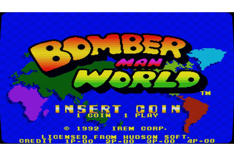 Bomber Man World (Arcade Game Intro) - YouTube