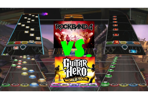 Rock Band 4 vs Guitar Hero World Tour Chart Comparison ...