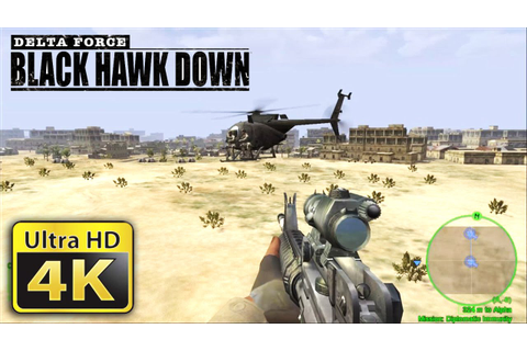 Old Games in 4K : Delta Force Black Hawk Down - YouTube