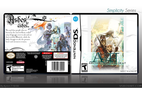ASH: Archaic Sealed Heat Nintendo DS Box Art Cover by Ayron