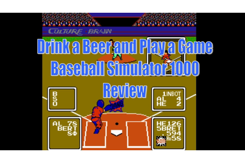 DBPG: Baseball Simulator 1000 Review (NES) - YouTube