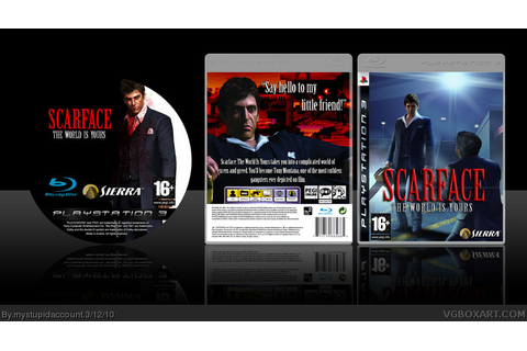Scarface: The World Is Yours PlayStation 3 Box Art Cover ...