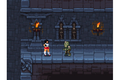 Some progress on the side scroller pixel dungeon... | Low ...