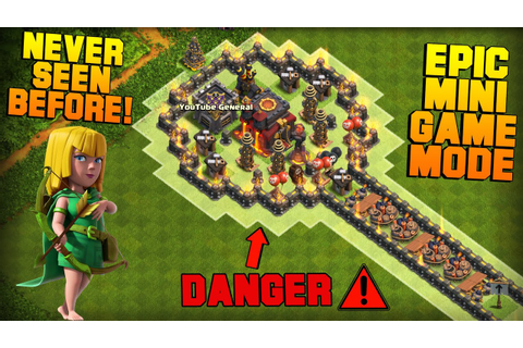 Clash of Clans | TH10 Mini Game Base | Lollipop | Epic ...