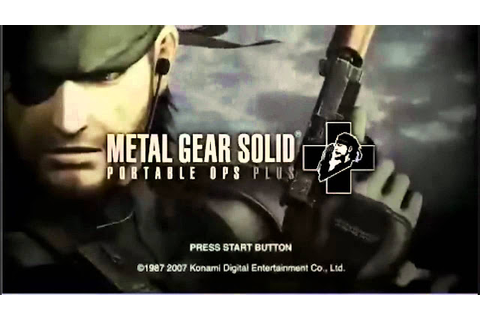 metal gear solid portable ops plus free android download