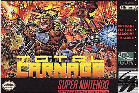 TOTAL CARNAGE SNES SUPER NINTENDO GAME COSMETIC WEAR ...