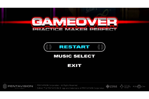 DJMax Portable 2 - Game over screen - YouTube