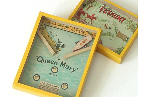 R J Puzzles Dexterity Games Queen Mary & Fox Hunt Vintage