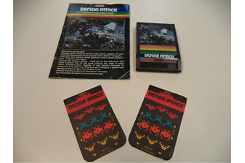 Demon Attack (Intellivision, 1982) IMAGIC Game Cartridge w ...