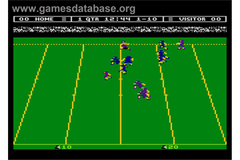 Touchdown Football - Atari 8-bit - Games Database