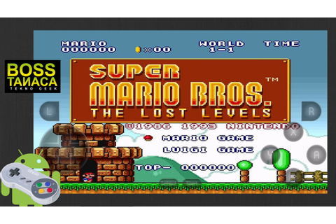 """Super Mario Bros.: The Lost Levels"" on Android 