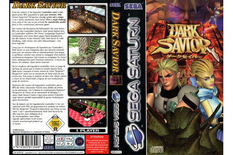 Sega Saturn D Dark Savior E Game Covers Box Scans Box Art ...
