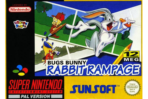 Nerdicus SNES Review #49: Bugs Bunny Rabbit Rampage ~ Life ...