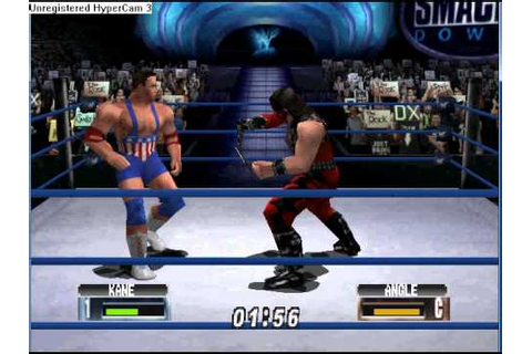 WWF No Mercy N64 Gameplay Kane Vs Kurt Angle - YouTube