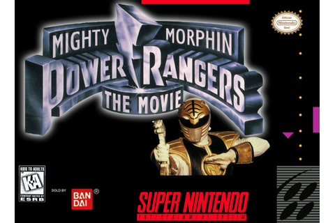 Mighty Morphin Power Rangers - The Movie SNES Super Nintendo