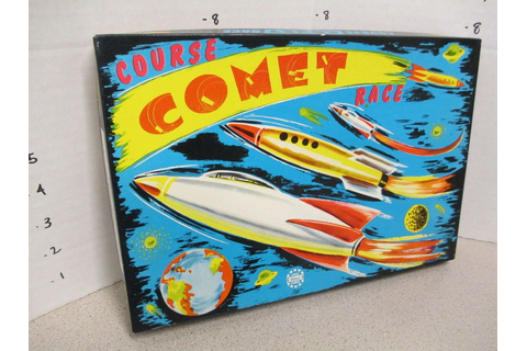 COURSE COMET RACE game 1950s space rocket ship Buck Rogers ...