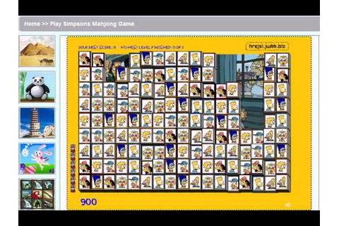 Play Simpsons Mahjong Game - YouTube